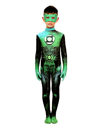 Sheface Kids Green Lantern Halloween Costume (Large, P07) Halloween Green Lantern