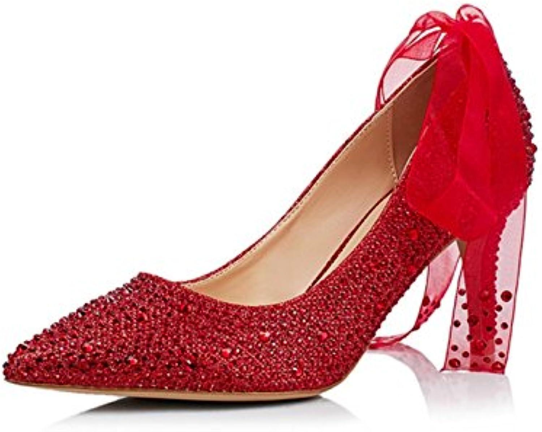 Zapatos De Novia De Cristal Nupcial Acentuados Tacones Altos Rhinestone De La Cinta