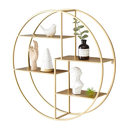HONE LIFES Runde Display Regal Kombination, Goldene Ecke Rack Lagerung Regale Floating Regale Wohnzimmer Wandregal Display Rack (Display-regal Ecke)