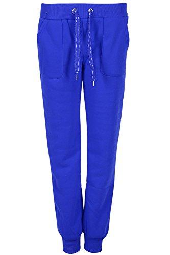 Be Jealous Damen volle Knöchel Länge Dehnbar Gamaschen Frauen Seitentasche verstellbare Zeichnen Sie Schnüre Strick Jeggings Königsblau