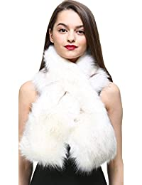 c14cdcb65320 vogueearth Faux Fur Fausse Fourrure Femme Hiver Warmer Longue Écharpe  Foulard Châle Cape Stoles Emballage