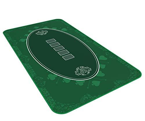 Bullets Playing Cards Designer Pokermatte grün in 140 x 75cm für den eigenen Pokertisch - Deluxe Pokertuch - Pokerteppich - Pokertischauflage
