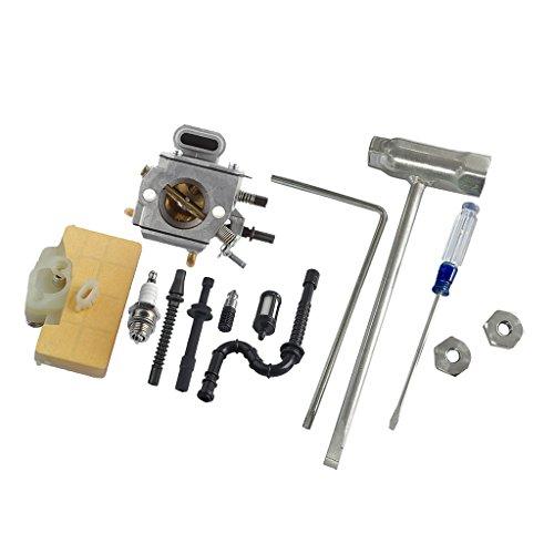 B Blesiya carburateur avec Filtre /à air kit de Ligne de Carburant pour stihl ms290 ms310 ms390 029 039