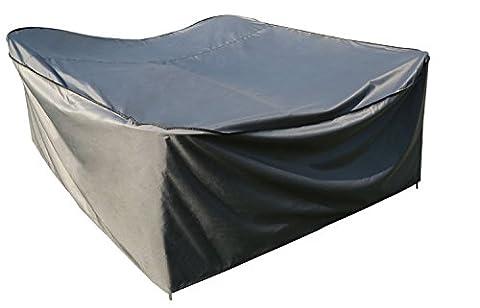 sorara–Housse de protection pour table carré   Gris   180x 180x 90cm (L x W x H)   imperméable   Polyester & Revêtement PU   pour mobilier de jardin