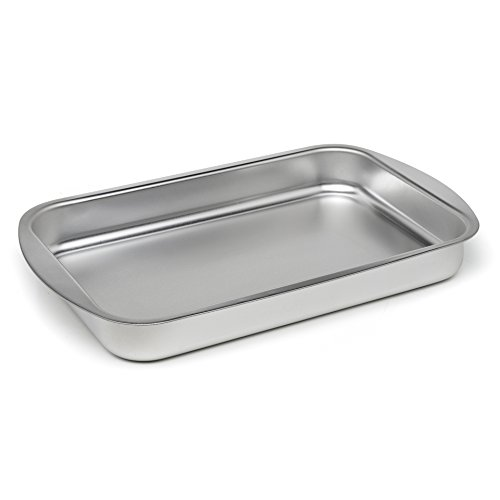 Maxi Nature Kitchenware Großer Bräter mit Rost Roasting Pan Ofenblech Backbleche Tiefes Lasagne-Blech 35x22cm
