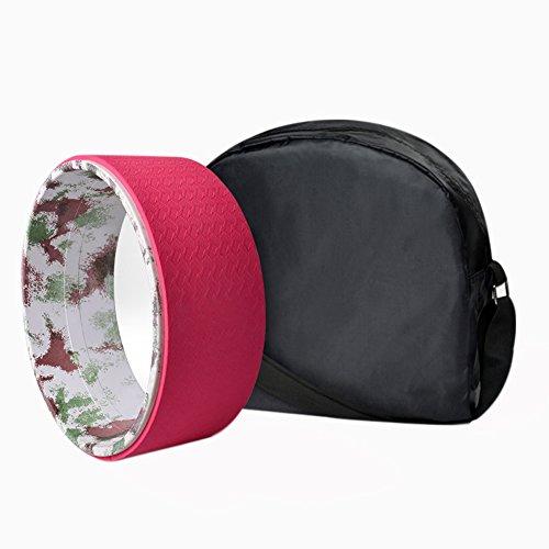 WCYYOGA Yoga Rad Flexibilität Nach Drum Bein Balance Bahre Yoga Pose Assistant - Rot/Schwarz/Lila