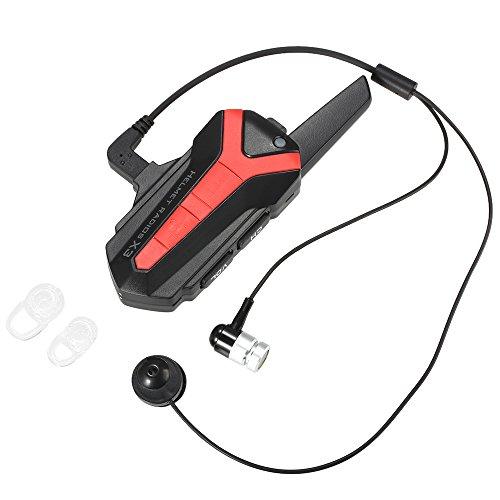 docooler X3plus Bluetooth-Gegensprechanlage Fahrrad Helm Interphone 1–3km Headset Radios Fernbedienung PTT Wasserdicht Freisprecheinrichtung Radfahrer
