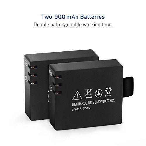 3.7V Li-ion Batteries 900 mAh pour Action Sports Caméra Elephone ELE Explorer S / MGCOOL PRO (Deux batteries)