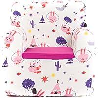 SLEEPAA Fauteuil enfant pour chambre bébé déhoussable et lavable en machine 40x40x42 cm 0-4 ans