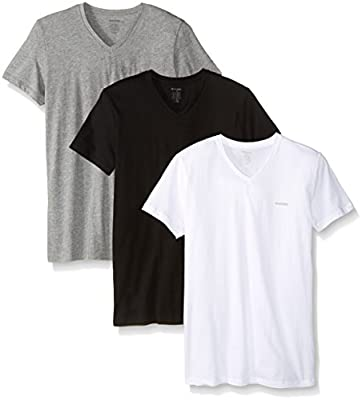 Diesel Men's Jake 3-Pack Essentials V-Neck T-Shirt
