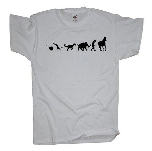 Ma2ca - 500 Mio Years Pferde T-Shirt White