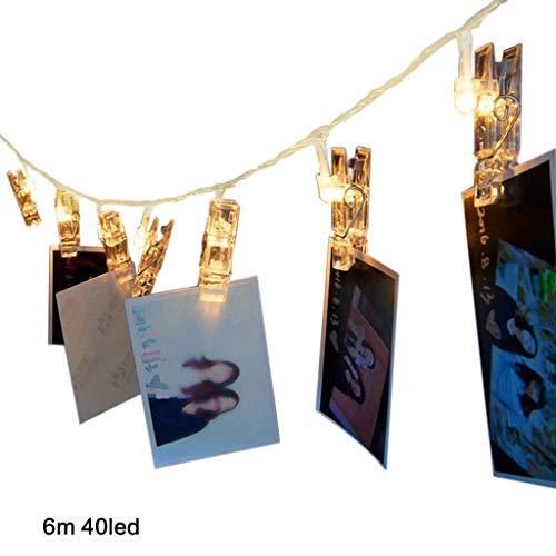 Qiman - Fotoclip Lichterketten Fee LED Batteriebetrieben Warmweiß Beleuchtung Für Patio Halloween Weihnachten Party Hochzeit Schlafzimmer Dekor (2019 Halloween Crafts)