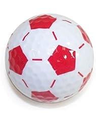 Nitro Novelty Balles de golf Nitro Novelty Balles de golf–Soccer, Lot de 3Tube, Blanc/rouge