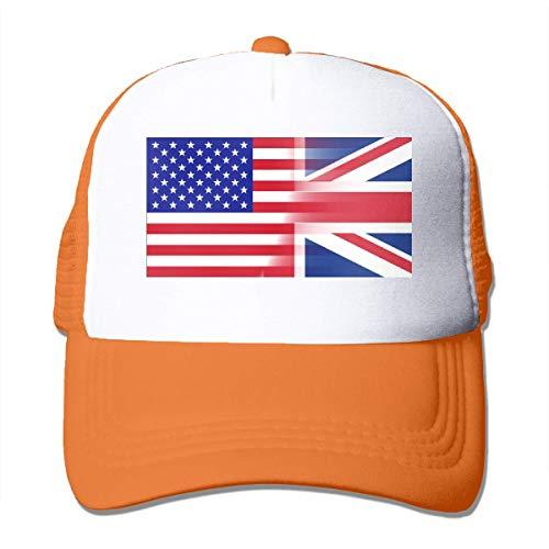 Voxpkrs Amerikanische Flagge Britische Flagge Einstellbare Mesh Trucker Baseball Cap Männer/Frauen Street Rapper Hut Schöne 1402