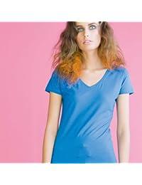 Skinni Fit femmes Stretch à manches courtes et col en V en coton-Shirt Top S-2XL