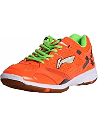 Li-Ning Super Star AYTJ057-5 Orange Badminton Shoes For Men (Orange)