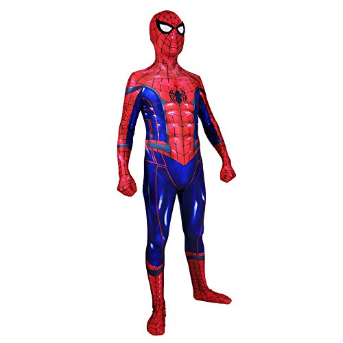 nder Spider-Man Halloween Kostüm Overall 3D Print Lycra Spiderman Spiel-Anim Cosplay Body,Men-M ()