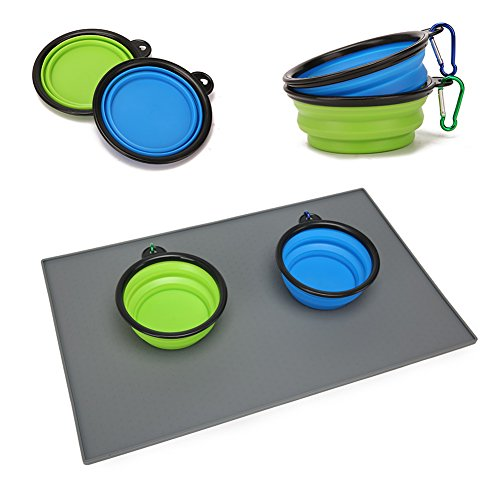 Pet Food Mat Tazón impermeable no tóxico FDA silicona de grado ester