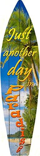 Smart Blonde Day in Paradise Metall Neuheit Surf Board, Schild sb-036 (Tropische Zimmer Dekor)