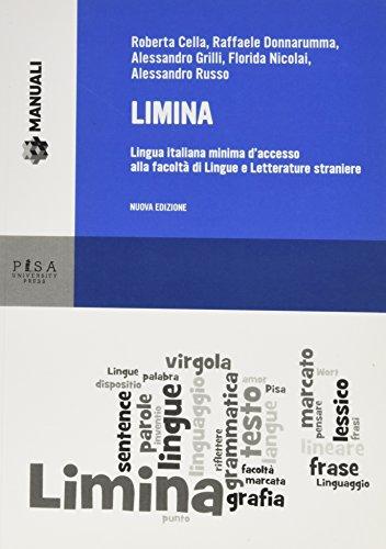 Limina. Lingua italiana minima d'accesso alla Facoltà di Lingue e Letterature Straniere