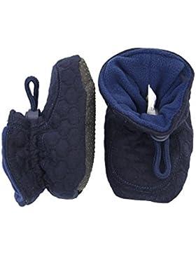 Melton Unisex Baby Booties-Waffelsteppung Krabbel-& Hausschuhe, Blau (Blue Nights287), 22/23 EU
