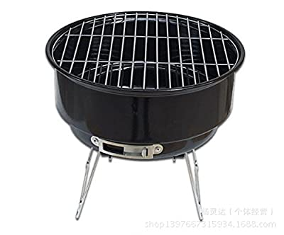 Nclon Kohle Picknickgrill Holzkohlegrill Smoker,Mini Bbq Barbecue Portable Faltbare Geräuscharmer Outdoor Camping Picknick Garten 2-4 Volk Inbegriffen Paket