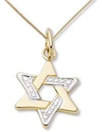 Miore Children's Gold Necklace, 18ct Two-Colour Gold Star Pendant