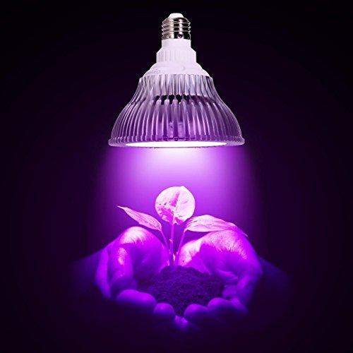OxyLED E27 Pflanzenlampe 12W 12 LEDs (9 Rot + 3 Blau) Pflanzenlicht für Gewächshaus, Zimmerpflanzen, AC 100-240V