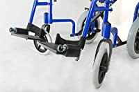 Dash Express Ultra Lightweight Folding Attendant Propelled Wheelchair with Tall Handles