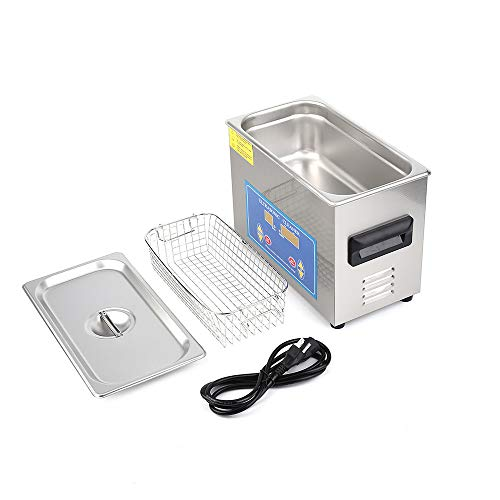 Price comparison product image Yaoaomon 4.5L Stainless Steel Industry Heated Ultrasonic Cleaner with Heater Timer Silver