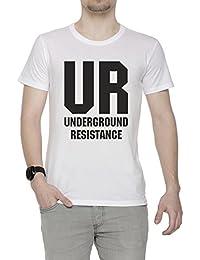 Erido UR Hombre Camiseta Cuello Redondo Blanco Manga Corta Todos Los  Tamaños Men s White 7505e3aa55b