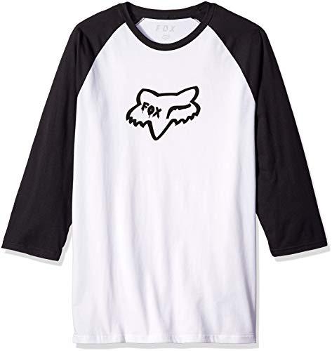 Fox Herren Czar Head Premium Raglan 3/4 Sleeve T-Shirt, weiß/schwarz, Mittel - 3/4 Sleeve Shirt