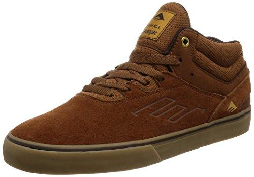 Emerica Herren Westgate Mid Vulc Gum Skateboardschuhe, Braun Brown/Gum
