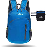 Vivateck foldable lightweight waterproof travel and hiking backpack for men and women 20L - useful small & portable for hiking, school, gym and camping sport, ski & business rucksack