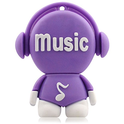 818-Shop No16200070032 USB-Sticks (32 GB) Lustiger Musik DJ 3D violett