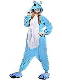 Mystery&Melody Unicornio Pijamas Cosplay Disfraces Animales Franela Monos Unisex Ropa de Dormir Disfraces de Fiesta