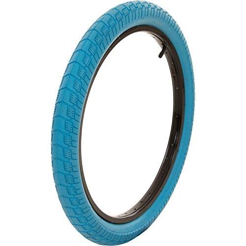 MTF BMX Reifen 20 x 2,25 Zoll Freestyle Verschiedene Farbvarianten Sidewall, Farbe:Blau