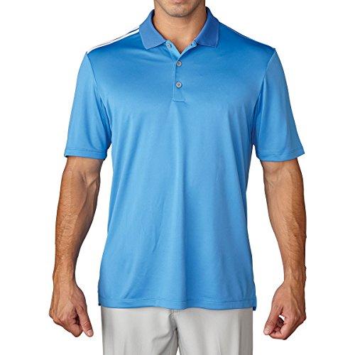 adidas Herren Poloshirt Climacool 3-Stripes Ray Blau