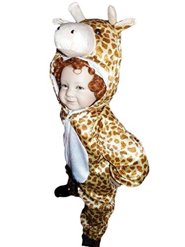(Giraffen-Kostüm, J24 Gr. 86-92, für Babies und Klein-Kinder, Giraffen-Kostüme Giraffe Kinder-Kostüme Fasching Karneval, Kinder-Karnevalskostüme, Kinder-Faschingskostüme, Geburtstags-Geschenk)