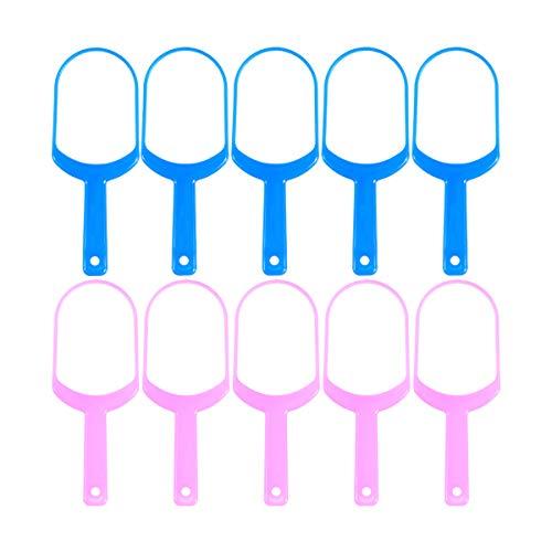 Healifty Zungenbürste 10 stücke Praktische Zungenschaber Reiniger Zungenreiniger Entferner Reduzieren Zahnverfall Oral Health Care Tools (5 * Rosa + 5 * Blau) - Oral Care Reiniger