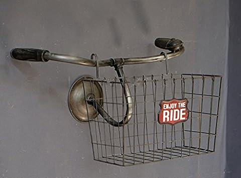 ASL Fahrrad Korb Rack, Cafe Mural Wand Lagerung Regal Ländlichen Retro Das Alte Eisen 53 * 32 * 32cm neu ( Farbe : #1 , größe : 53*32*32 )