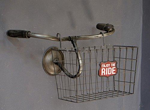 GLF Hängende Regale des Nachtregals, Fahrrad-Korb-Gestell, Café-Wandwand-Speicher-Regal-ländliches Retro tun das alte Eisen 53 * 32 * 32cm (Color : #1, Size : 53 * 32 * 32)