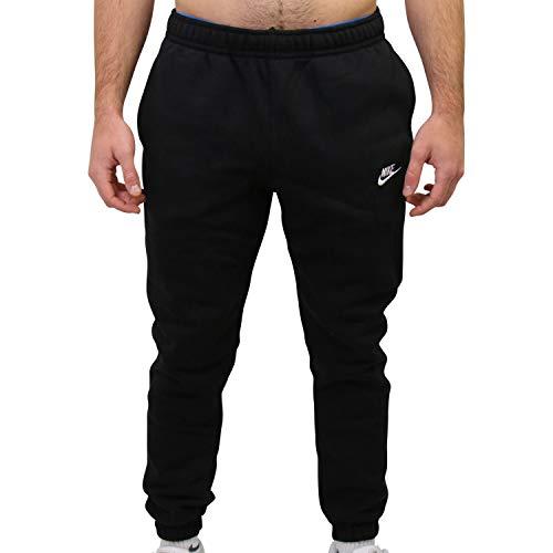 Nike Mens Sportswear Club Fleece Sweatpants, Black/White, L