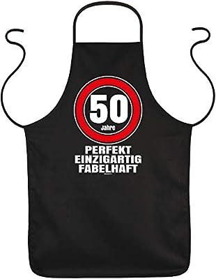 50 Geburtstag Koch-Schürze - Geschenk-Idee Sprüche-Schürze 50 Jahre : 50 Jahre perfekt einzigartig fabelhaft - Geschenkschürze 50.Geburtstag