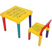 Mesa Infantil y Sillas Desmontable Juego de Muebles Infantiles para Niños
