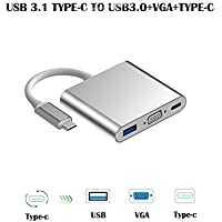 USB Type C to VGA Adapter | USB 3.1 TYPE C to VGA with USB3.0