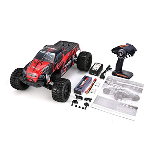 LouiseEvel215 1/10 70KM / h Thunder 4WD Brushless Racing RC Auto Bigfoot Buggy Truck RTR Spielzeug Fernbedienung Fahrzeug (Bigfoot-truck Fernbedienung)