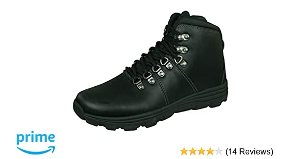 Mens Skechers Edgin Memory Foam Lace Up Leather Ankle Boots Sizes 5.5 to 13
