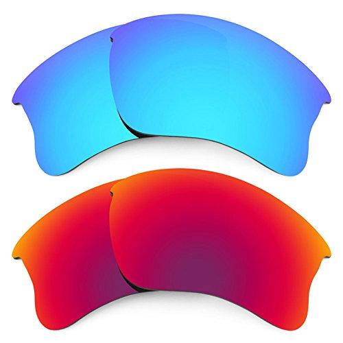 Revant Ersatzlinsen für Oakley Flak Jacket XLJ Polarisiert 2 Paar Kombipack K005