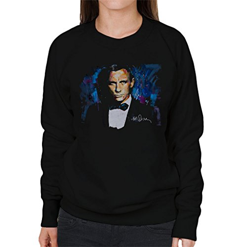 Sidney Maurer Daniel Craig James Bond Official Womens Sweatshirt Black